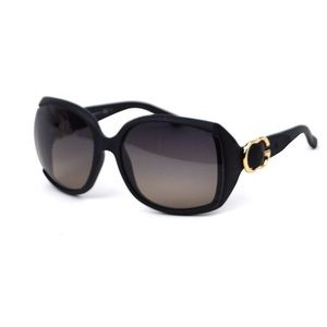 Gucci Ladies Gold Buckle Sunglasses